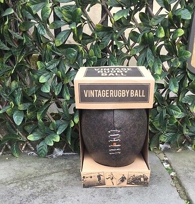 brand new vintage style brown leather rugby ball retro SIZE 5 gifts presents boy