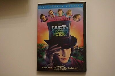 Charlie and the Chocolate Factory (DVD, 2005, Full Frame) Johnnt Depp EXCELLENT