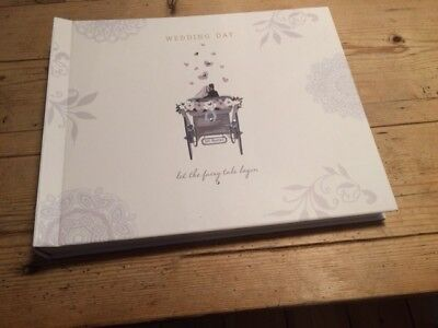 """Traditional wedding album, 12"""" x 10"""", """"Let the fairy tale begin"""""""