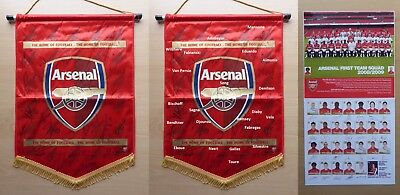 2008-09 Official Arsenal Pennant Squad Signed inc. Fabregas RVP Wilshere (11654)