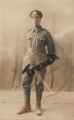 "Rifle Brigade young Soldier ""George"" Egypt 1918, very clear image."