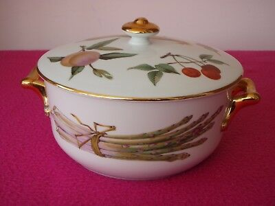 Royal Worcester Evesham Lidded Tureen - Size 1, Shape 28 - Oven To Table - VGC