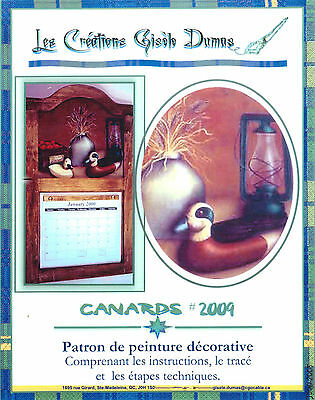 Art Adult Painting Book Les Création Gisèle Dumas Canards  French Instruction