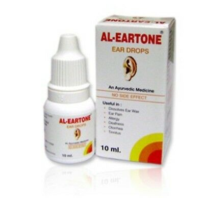 2 x Herbal Al-Eartone Ear Drops10ml  Ayurvedic Ear Wax Ear pain Herbal earache