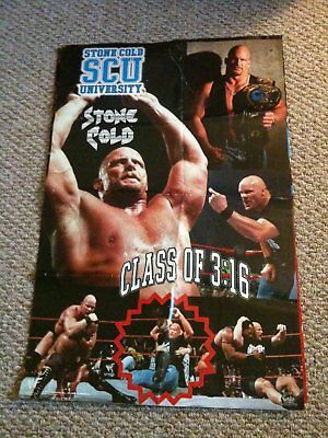 Vintage WWF Posters The Rock, Chris Benoit, Stone Cold Steve Austin, WWE