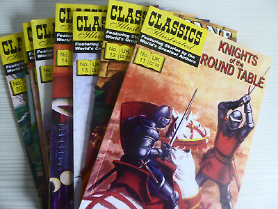 UK Classics Illustrated - No's 11 - 20 complete run - 500 pages approx VGC