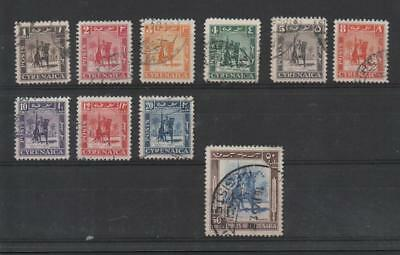 Cyrenaica 1950 British Occupation Sg136/45 Used