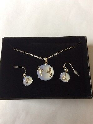 Moonstone Necklace And Earrings Set