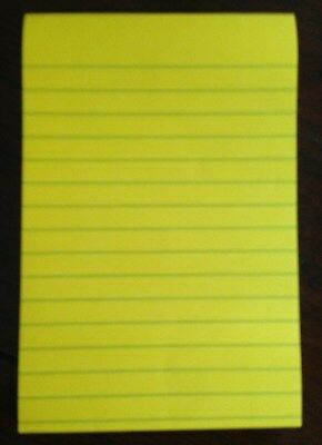 """Post-It LINED Yellow SUPER STICKY 4 x 6"""" 90 Sheet note memo pad Office School"""