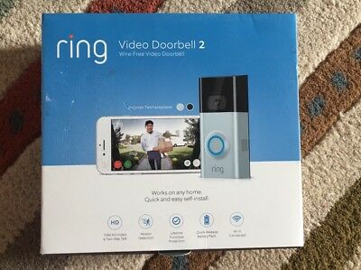 Ring Video Doorbell 2 Wi-Fi Wire Free