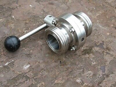 new stainless steel 2 inch hygienic buttery fly valve RJT thread food 316 grade