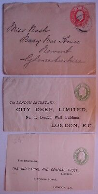 Edward VII: Envelopes, Postcards & Lettercards.