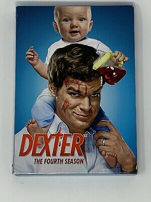 Dexter: The Fourth Season (DVD, 2010, 4-Disc Set) USED VG FREE SHIPPING