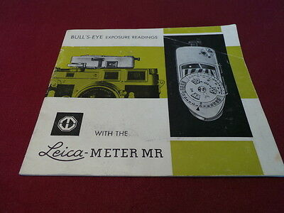 Leica/leitz Meter Mr-3/mr Manual/instructions Leica Mr/mr-3 Manual/instructions