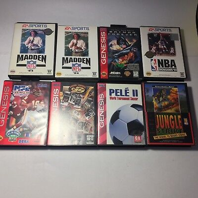 Lot of 8 Sega Genesis games! All Boxed or Complete! Batman Forever, Pele II, etc