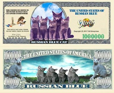 USA Fantasy NM-931 Cat Serie Russian Blue Cat One Million Dollars Banknote CA