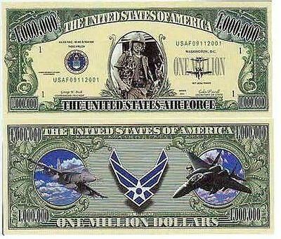 USA Fantasy NM-4 x2 Pieces US Air Force Serie One Million Dollars Bill CA