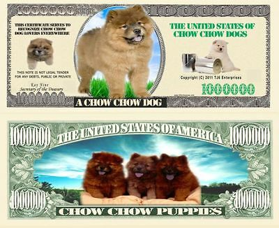 USA Fantasy NM-937 Dog Serie Chow Chow Dogs One Million Bones Banknote CA