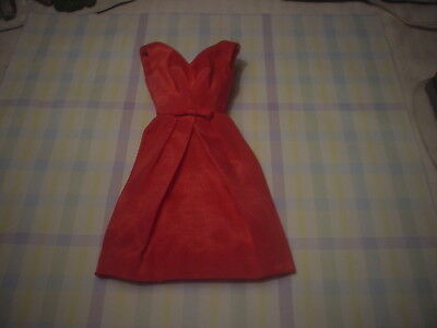 Vintage Barbie Campus Belle Dress In Rare Rose Silk Shantung Doll Clothes