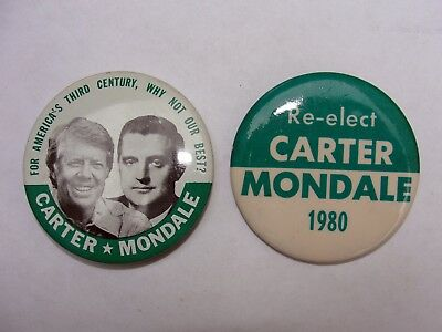 Carter Mondale President Campaign Buttons lot of 2