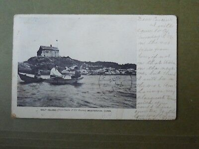Post Card  Westbrook, CT  Salt Island from back of Oil Works  c-1904  J74886
