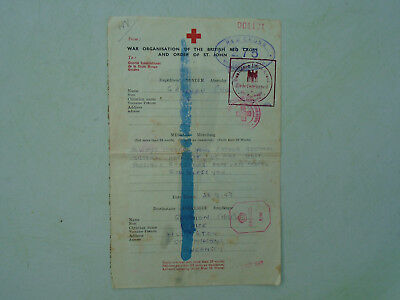 WWII Red Cross message