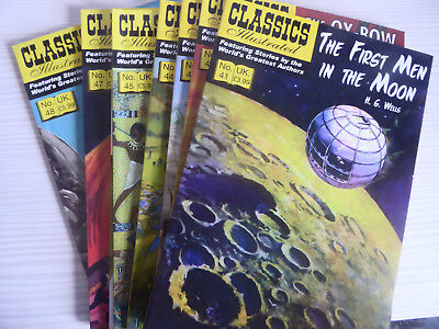 UK Classics Illustrated - No's 41 - 48 complete run - 400 pages approx VGC