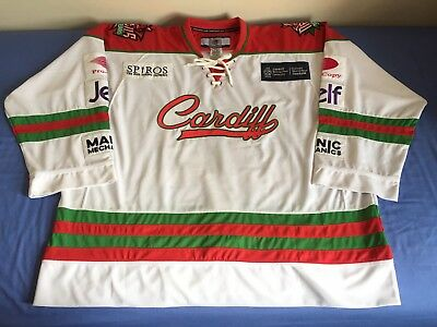 NNOB #32 Cardiff Devils 2016/17 Game Issued/Game Worn Jersey