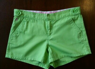 Lilly Pulitzer Girls Shorts 14 Lime Green Preppy Pockets Adjustable Flat Front