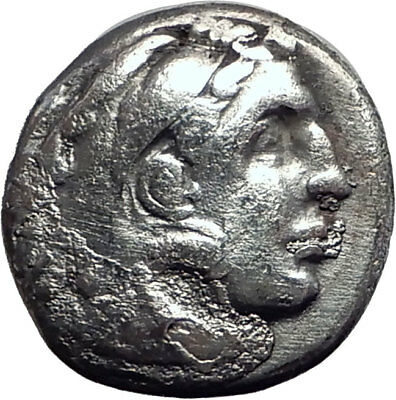 ALEXANDER III the GREAT 323BC Authentic Ancient Silver Greek Coin w Zeus i64696