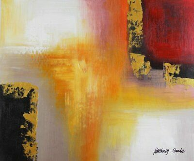 Modern / Abstract Painting - Oil Paiting on canvas - hand painted and (v8T)