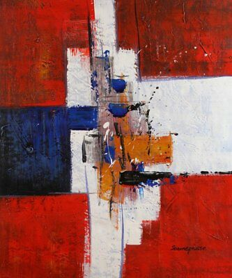 Modern Contemporary Abstract Painting Oil Painting on canvas - hand (H3N)
