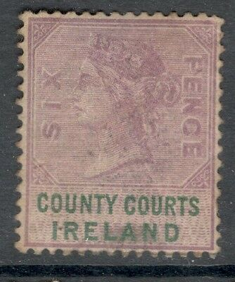 Queen Victoria - 6d  - County Courts Ireland - Mint Hinged