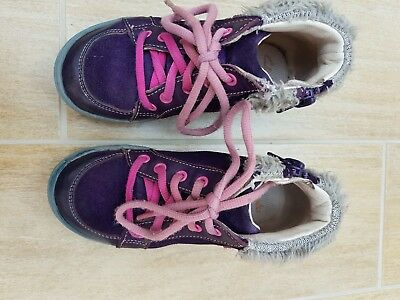 Girls Star Toddler Infant Size 8f Clarks Furry Edged Winter Ankle Boots