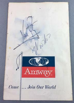 Signed Autograph Neil Armstrong Woo Stevens 1972 Program Autographed Man On Moon