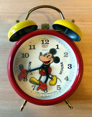 Réveil Disney - Mickey Mouse - Vintage 1970's - Made in Germany.