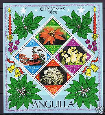 Anguilla 1979 Christmas Flowers MS SG383 MNH