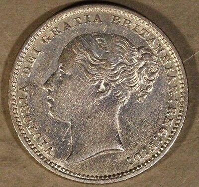 1879 Great Britain Shilling w/die # Higher Grade Nice  ** FREE U.S. SHIPPING **