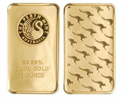 1 Ounce Perth Mint 1oz Gold Bar Not Solid