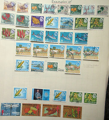 Rhodesia 1965-70 Used Range.Various Printings.