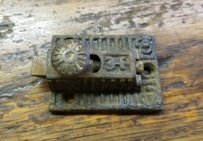 Antique Eastlake Victorian Ornate Cast Iron Cabinet Cupboard Door Latch Vtg.