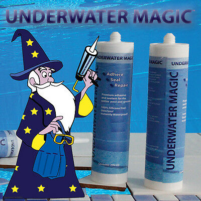 underwater pool adhesive and sealant double pack, color: white (2 x 290 ml)