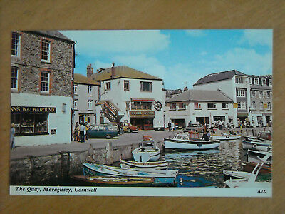 Old Postcard Of The Quay, Mevagissey, Cornwall