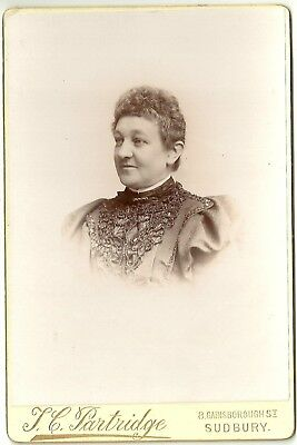 Victorian cabinet photo portrait lady curly hair Sudbury   photographer