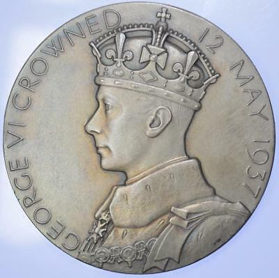 George VI - 1937 Silver Official coronation medal cased as issued