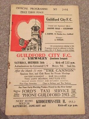 Guildford City V Yiewsley 1959/60 Southern League 26/12/59