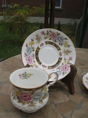 Cup Saucer Queen's Rosina China Cathay White W/flowers