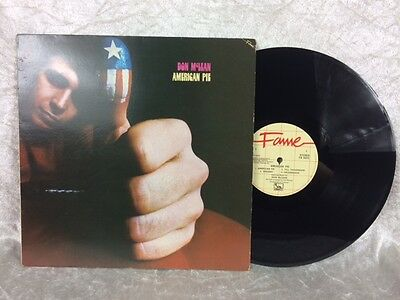 """Don McLean American Pie 12"""" Vinyl LP 33RPM Record Disc And Sleeve 1971"""