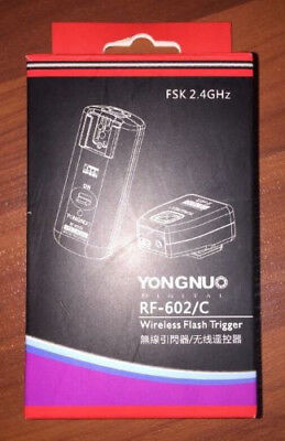 Yongnuo RF-602/C  Wireless Remote Flash Trigger for Canon DSLR US NEW!