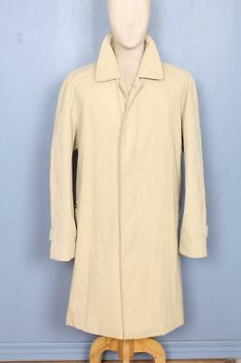 Superb Mens BURBERRY Single Breasted Short TRENCH Coat Mac L/XL 44/46